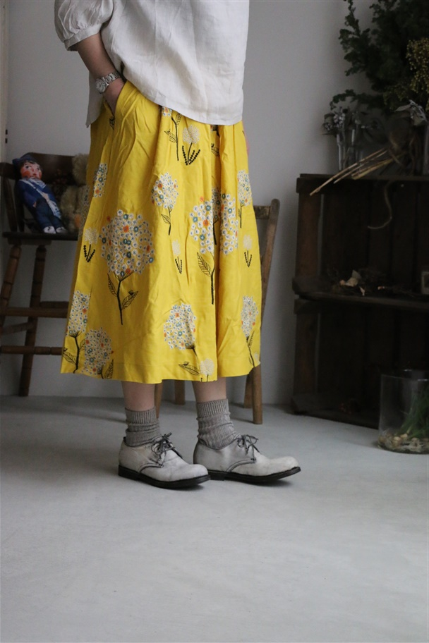 079S065054 marble SUD EMBアジサイタックSKIRT 2色
