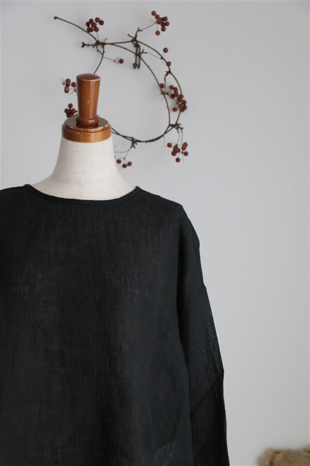 NMDS17101 MAISON DE SOIL BACK OPENING CREW NECK shirt 2色