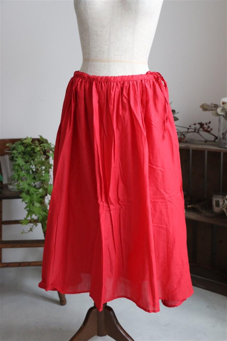 <SALE>G151 Gauze コットンギャザースカート