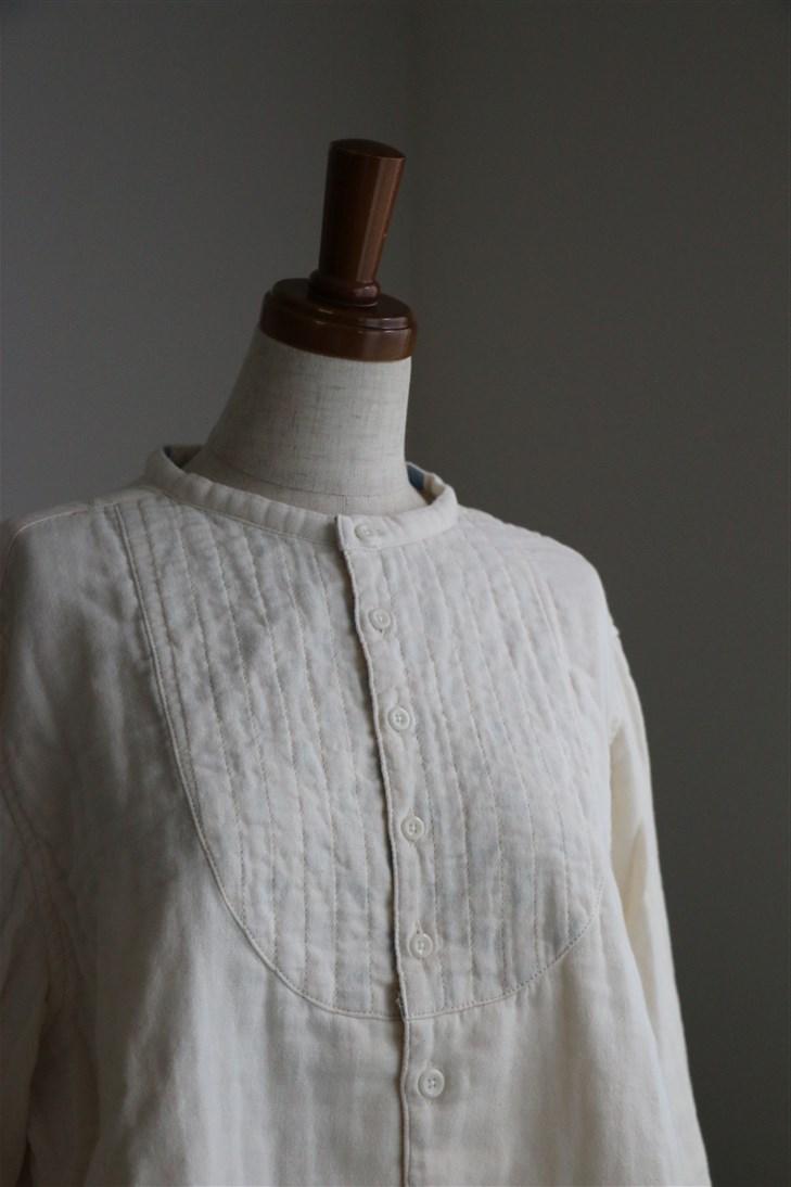 83S-12 快晴堂 トリプルガーゼ1/2パジャマシャツ 3色
