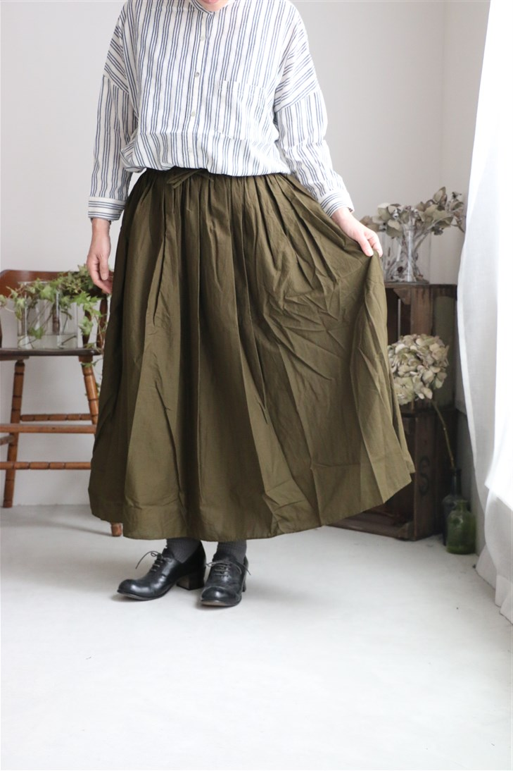 NSL18544 soil 60'S COTTON CAMBRIC GATHERED SKIRT 2色