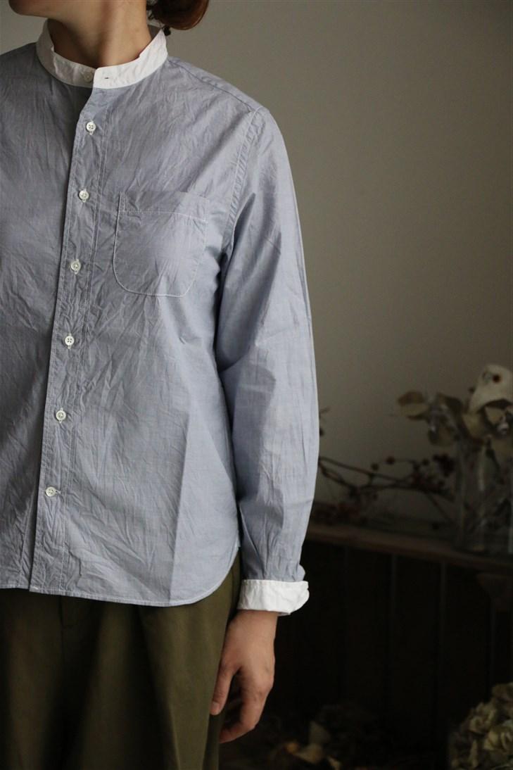 82061 FABRIQUE en planete terre stand collar cleric shirt