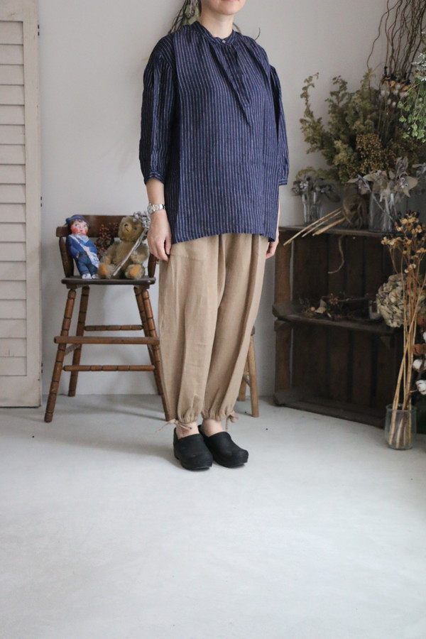 LWA149 fog linen work Antonia Top 2色