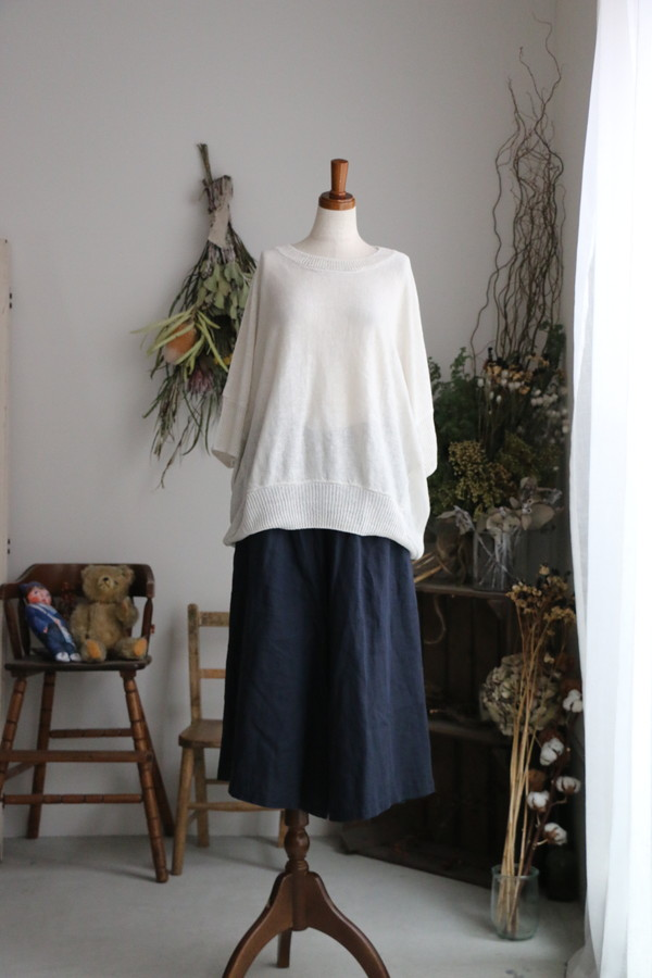 <SALE>71188 FABRIQUE en planete terre FRENCH LINEN  wide pants