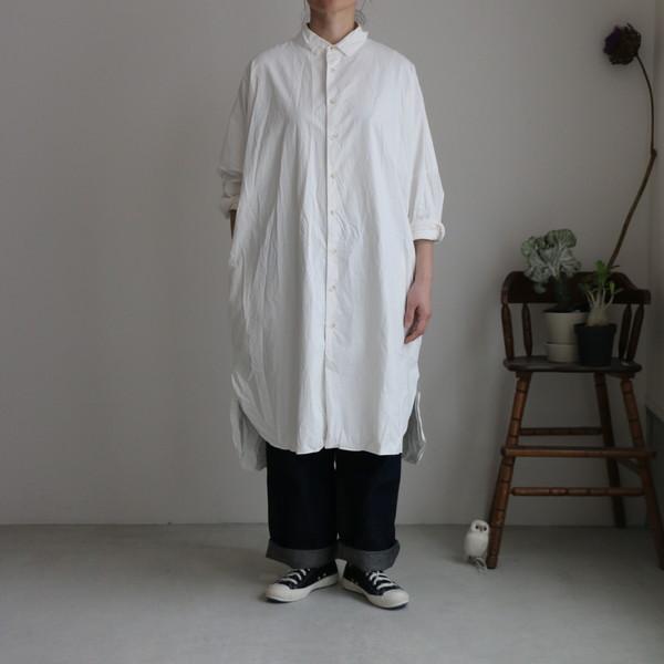 ST106 veritecoeur ロングシャツ 2色