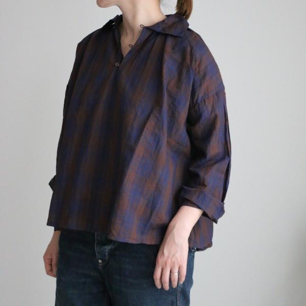 vc2150 veritecoeur ギャザーネックシャツ