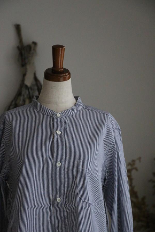 P81069 prit ピマストライプスタンドカラーシャツ サイズ1