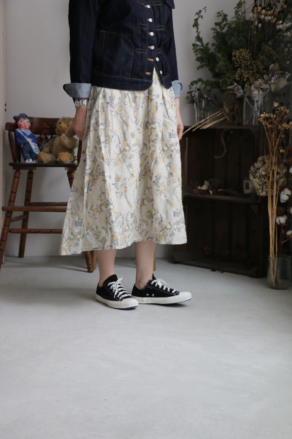 079M065021 marble SUD Damashie Skirt 2色