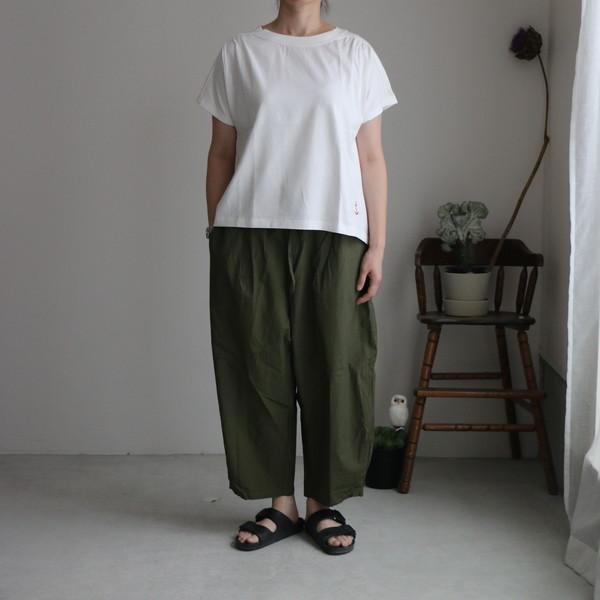 01C-58 快晴堂 Girl's天竺半袖ギャザーシャツ 2色