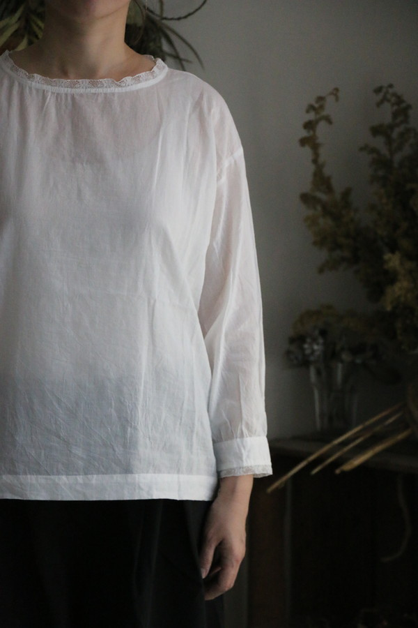 NSL19533 soil COTTON VOILE LACE PULLOVER 2色