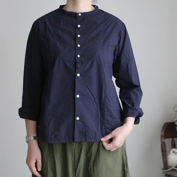01S-16 快晴堂 タイプライタークロス パジャマシャツ 2色