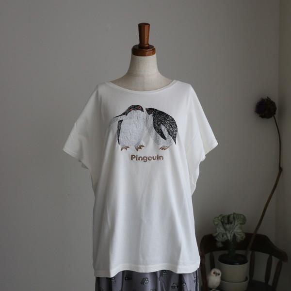 019M020115 marble SUD EMBペンギン BIG F/S WHT