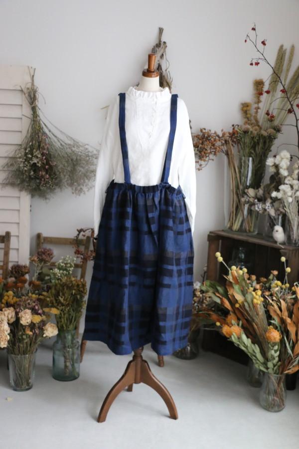 <SALE>13536081 vlas blomme Night Forest フィリュイドスカート