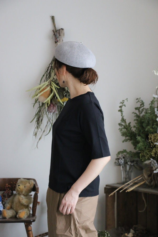 <SALE> G391 Gauze ポケットビッグTシャツ 2色