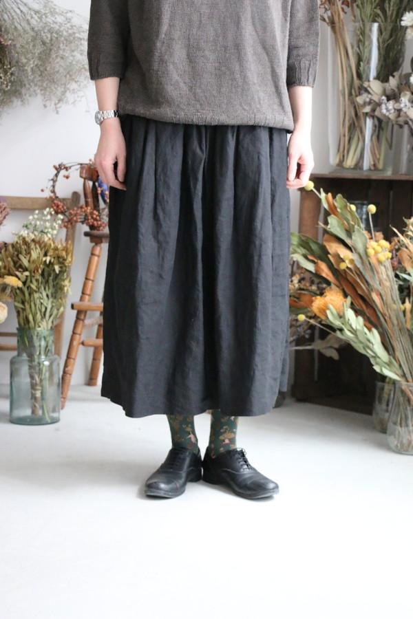 ST029 veritecoeur リネンシャーリングスカート 2色