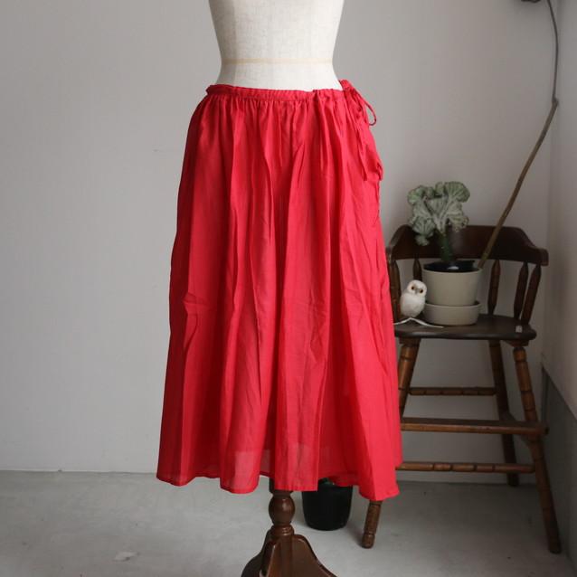 G151 Gauze コットンギャザースカート