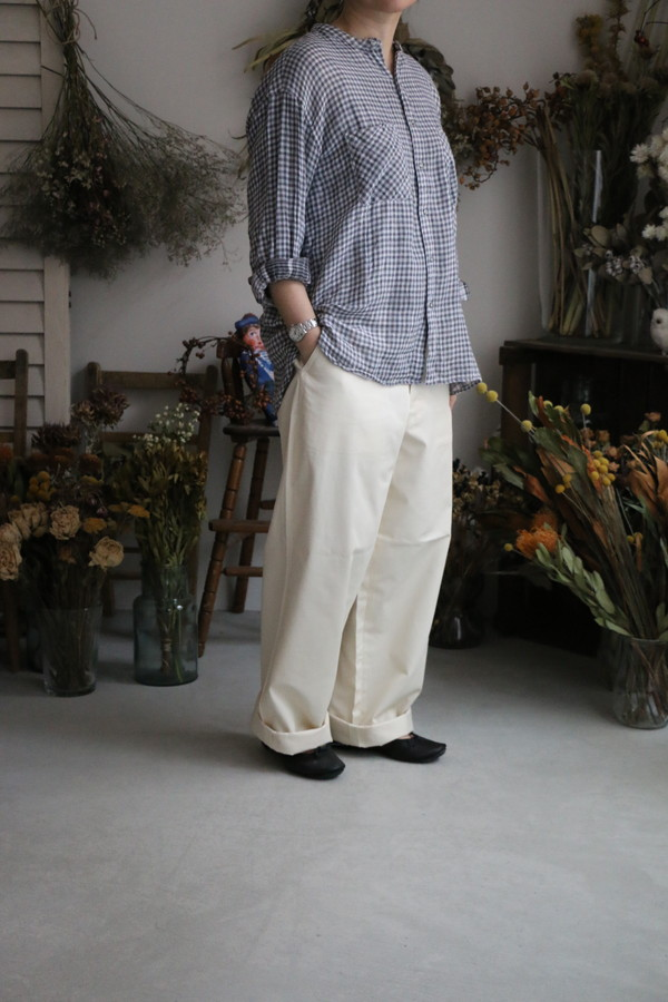 GNMDS1951 maison de soil  8.8oz AUTHENTUC CHINO PANTS 2色
