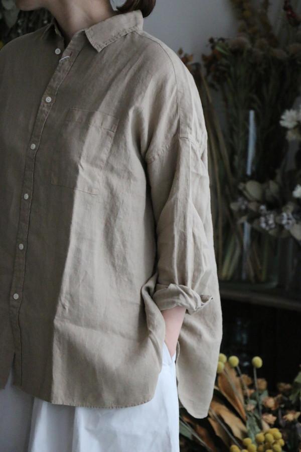 UT201SH30 UNIVERSAL TISSU リネンワイドシャツ 2色