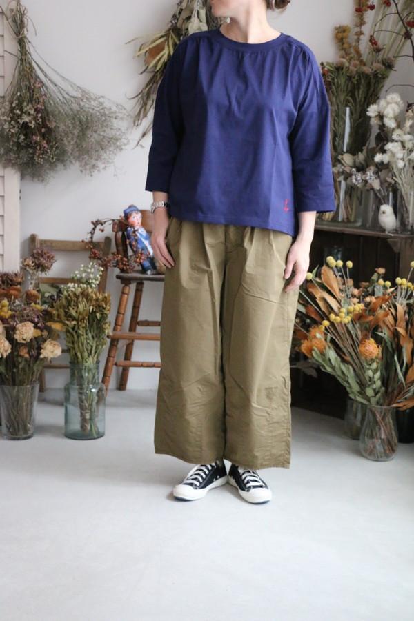 01C-59 快晴堂 Girl's天竺7分袖ギャザーシャツ 4色