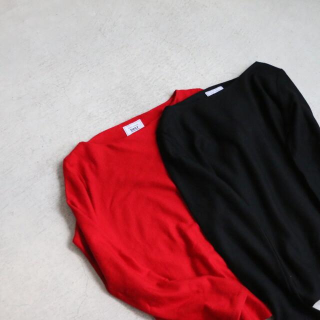 DW01 DAILY WARDROBE INDUSTRY BOAT NECK knit 2色
