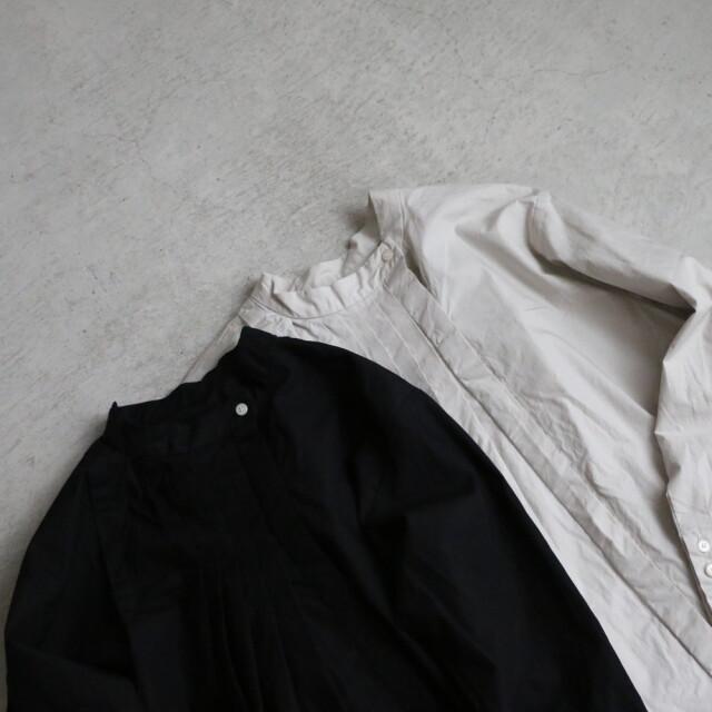 G538 Gauze# フロントタックシャツブラウス 2色