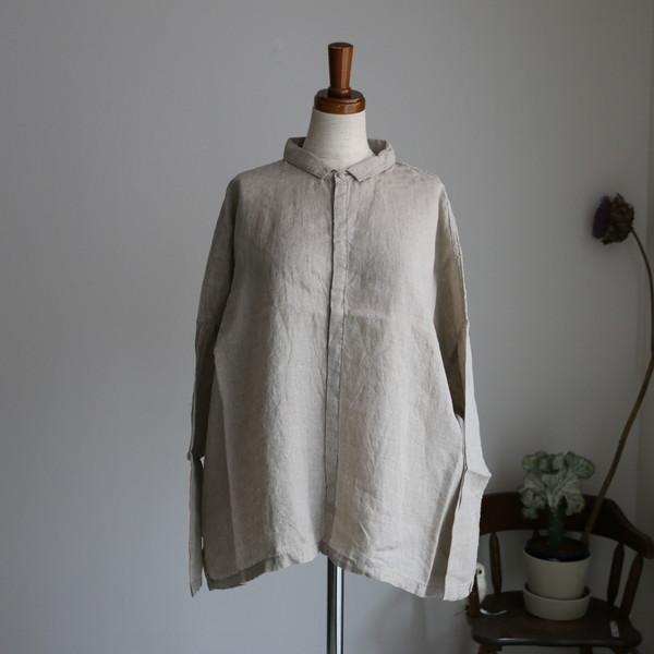 13135701 vlas blomme KL Heritage 80 長袖ワイドシャツ 2色