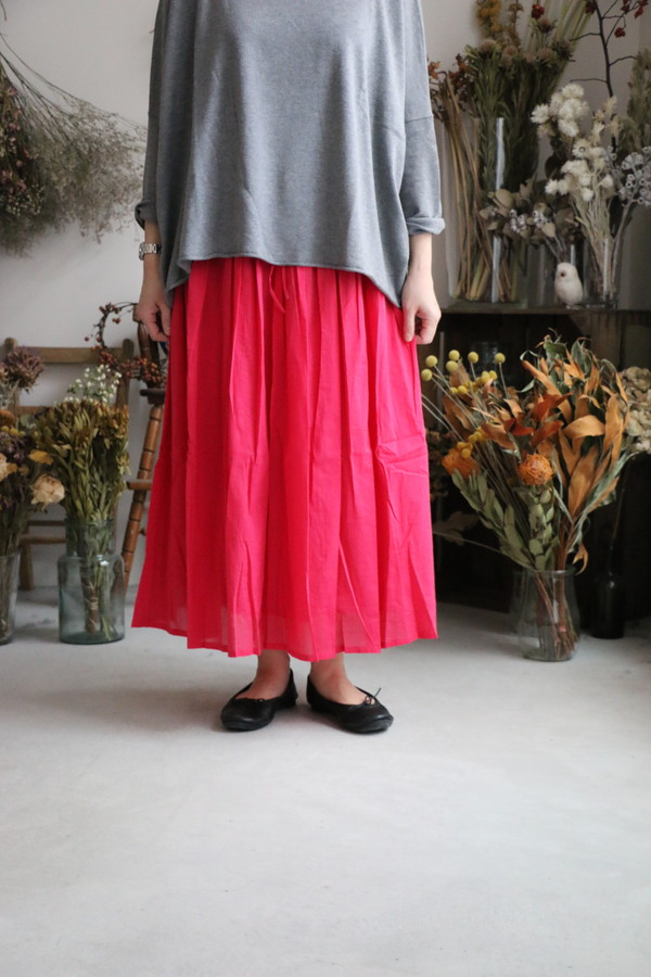 INMDS17155 maison de soil mini pintuck flared skirt 2色