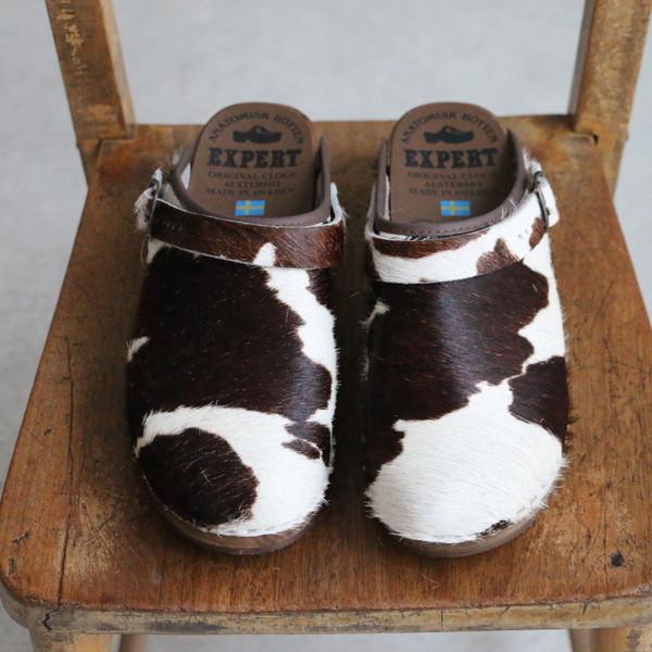 NEP1151P EXPERT cow print regular heel clogs with st