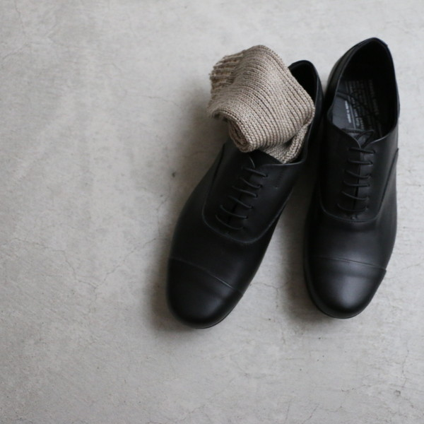 TR-001 chausser TRAVEL SHOES レースアップシューズ BLACK