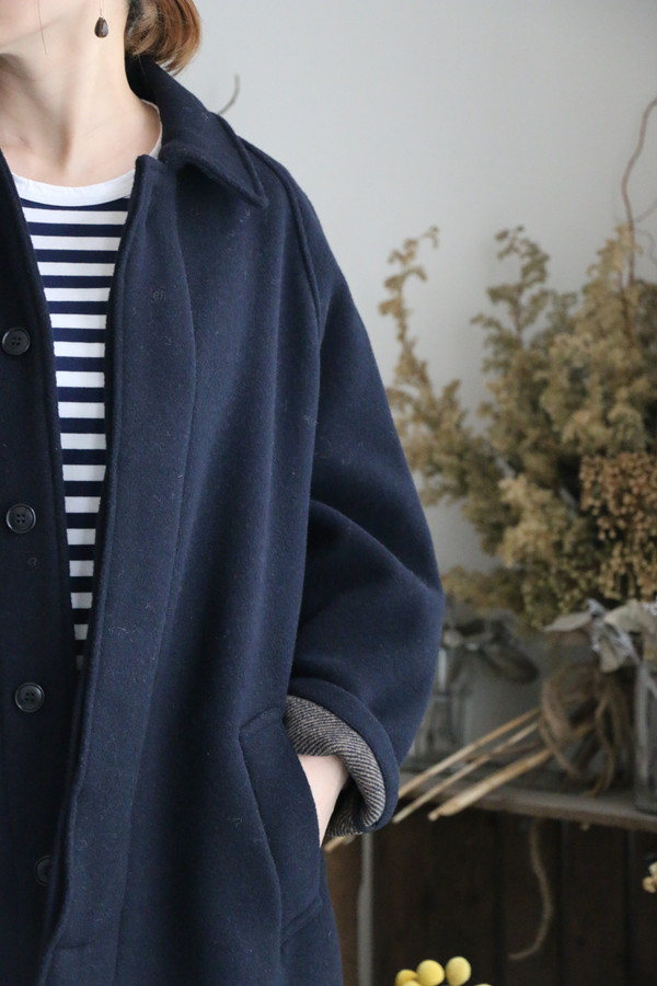 NHT1551wpr HTS wool balmacaan coat 2色
