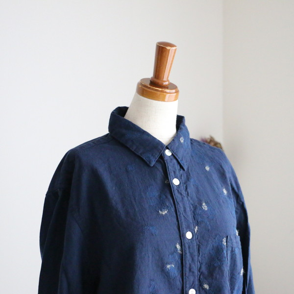 13127081 vlas blomme 異素材使いシャツ
