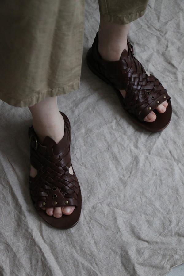 NPP2001 punt pigro mesh&ring sandal flat sole