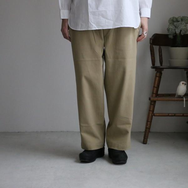 GNMDS2061 maison de soil comfortable cropped pants beige