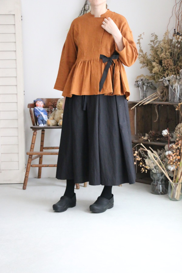 BL132 MAGALI リネンウールセミカシュクールジャケット 3色