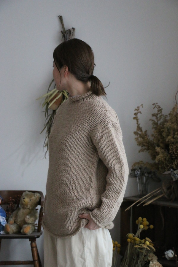 vck208 veritecoeur Mixed yarn High-nacked Pullover 2色