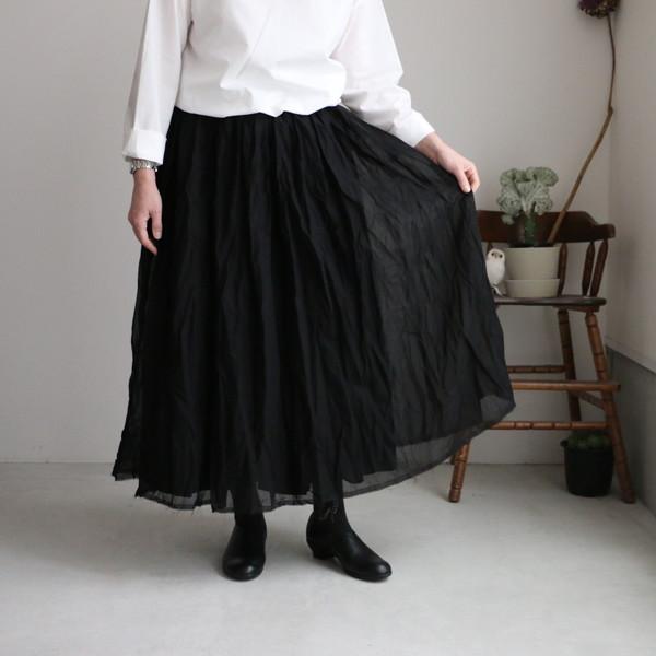 G542 Gauze# レイヤードスカート 2色