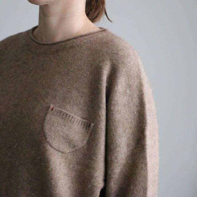 03K46 快晴堂 ヤクウールビッグセーター 3色