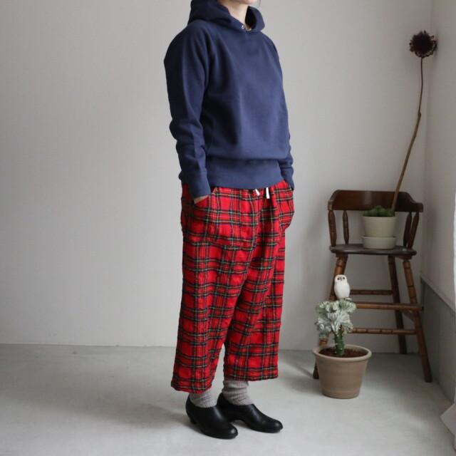 03P06 快晴堂 タータンフォーエバー イージーパンツ 2.赤タータン