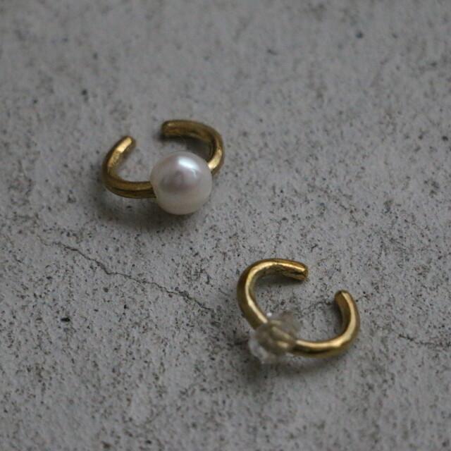 3156270 vlas blomme Stone Ear Cuff (片耳タイプ) 2種