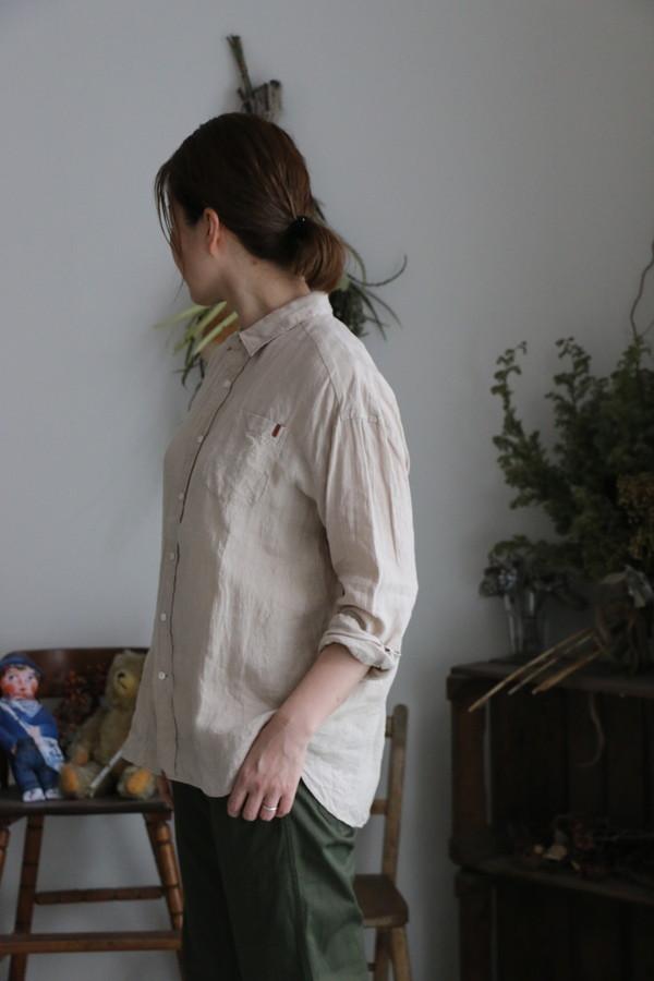 FABRIQUE en planete terre oversaize linen shirt