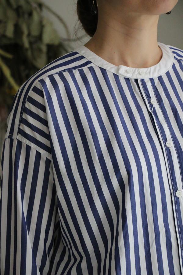 UT193SH012 UNIVERSAL TISSU バーバーストライプ ワーキングシャツ
