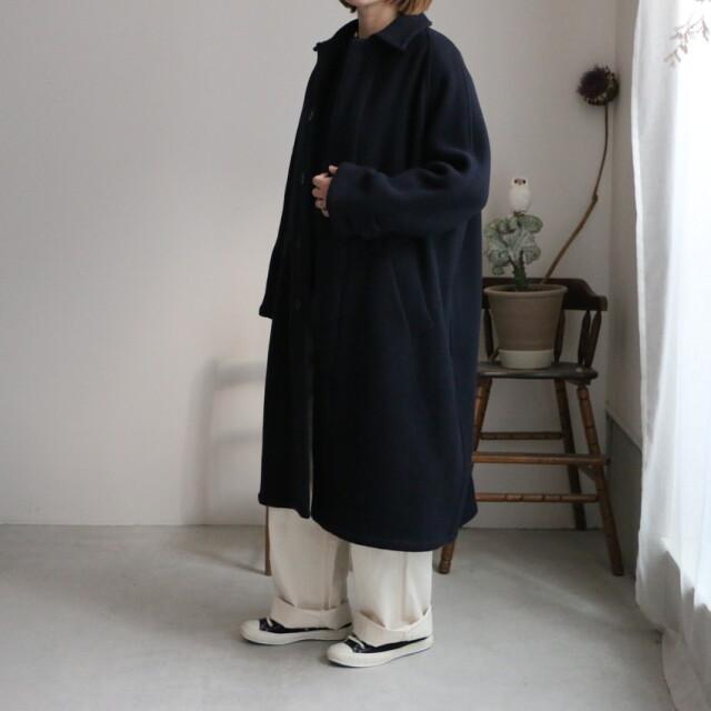 NHT1551wpr HTS wool balmacaan coat NAVY