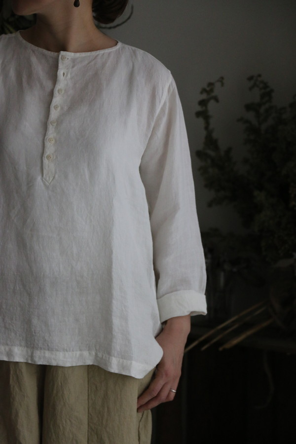 181001 Own GArment products ヘンリーネックシャツ