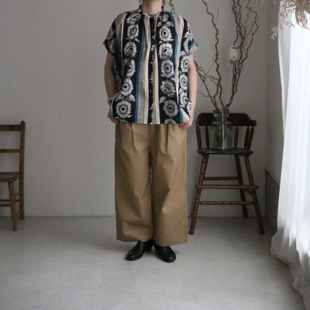 05BM046010 marble SUD  Soleilギャザーシャツ