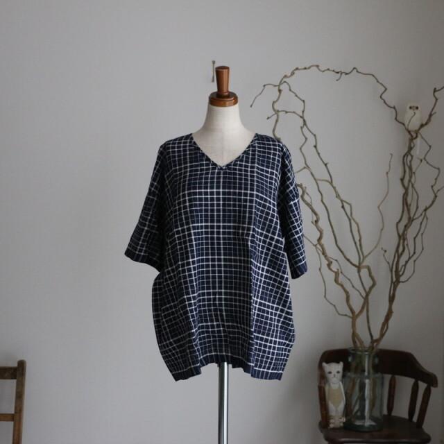 INMDS20111 maison de soil v neck short pullover