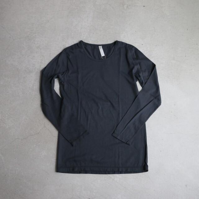 90514 prit 42/1スビン天竺Uネック長袖Tシャツ 04.チャコール