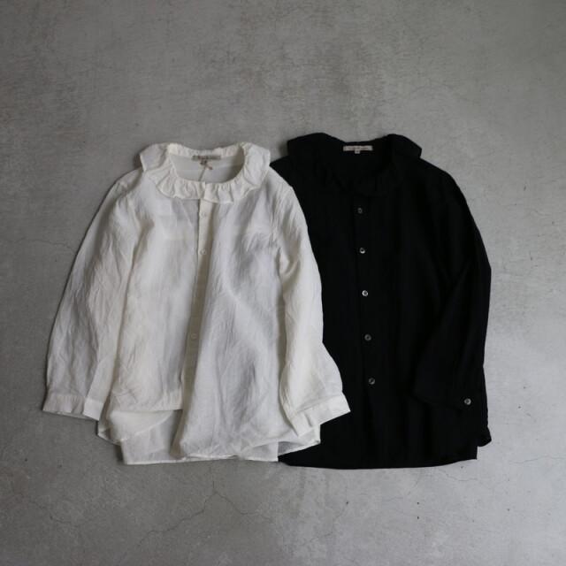 13129051 vlas blomme  フリルシャツ 2色