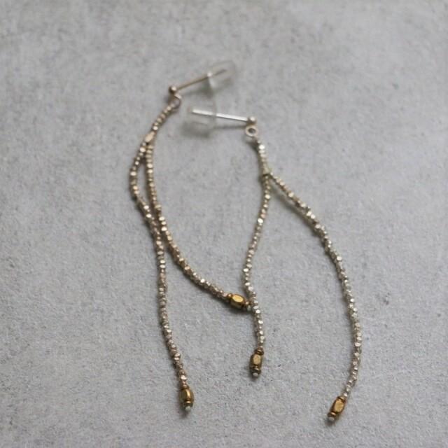 19SSPE02 ciika chain ピアス gold