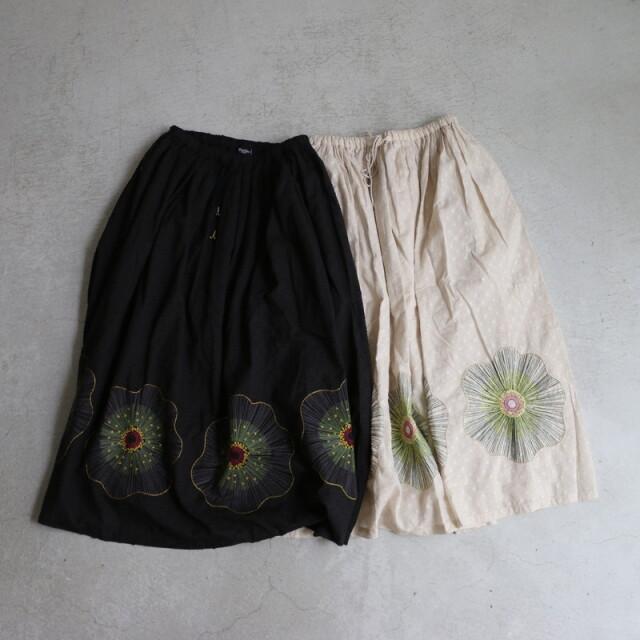 07BM305059 marble SUD EMB ギンバイカスカート 2色