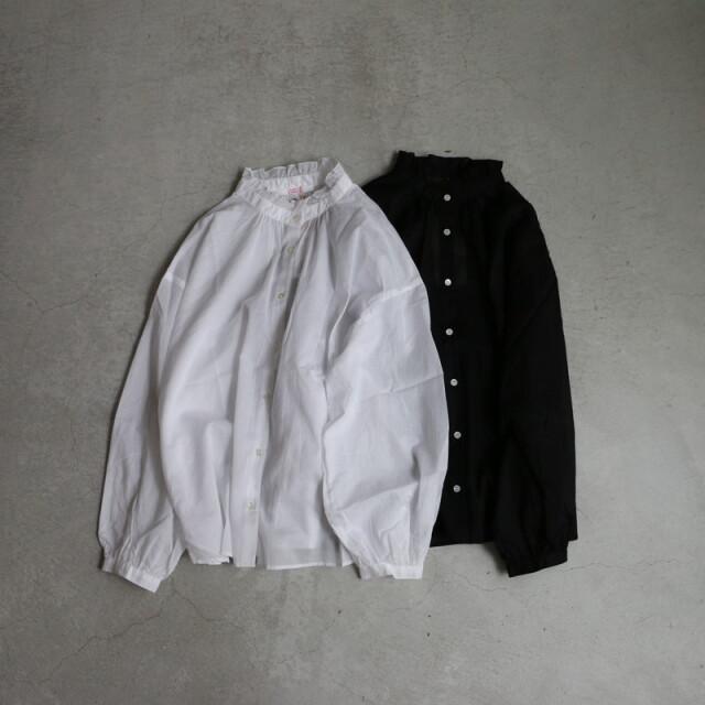 212095 FABRIQUE en planete terre natural laun fril blouse 2色